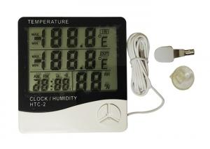 China White Color Digital Weather Thermometer , Digital Indoor Outdoor Thermometer on sale