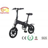 250W City Collapsible Electric Bike Folding Mountain Bicycle 14 Inch Wheel Size