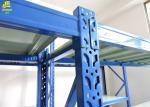 Custom Long Span Heavy Duty Steel Racks Hand Loading 2000-4000mm Height