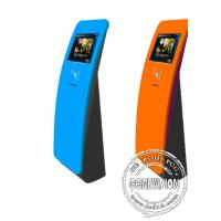 China Interactive touch screen kiosk floor stand with card reader on sale