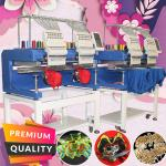 Best china embroidery machine for sale HO1502H 15 needles 2 head computer embroidery machine for cap t-shirt flat 3d hat