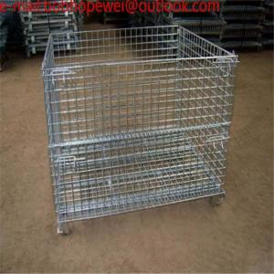 China Storage Wire Mesh Cage/metal turnover storage box/wire container storage cage ,Metal cage storage container,wire mesh on sale
