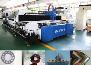 China 1kw Cnc Steel Pipe Cutting Machine For Metal Tube / Plate Carbon Steel , High Speed on sale