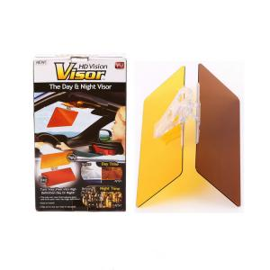 China Brown / Yellow Acrylic Glare Blocker Easy View HD Vision Sun Visor on sale