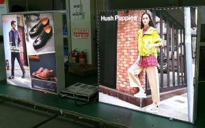 China 38mm Depth Custom LED Frameless Fabric Light Box For Shopping Mall Display on sale