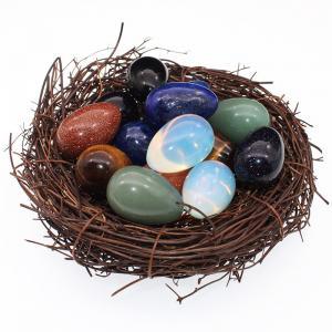 China Yoga Massage 20MM Crystal Chakra Meditation Stone Yoni Eggs on sale