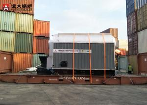 China 4Ton Bagasse Wood Pellet Boiler Q345R Steel Material With Water Equipment on sale
