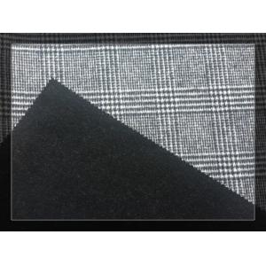 China Big Black White Tartan Double Faced Wool Coating Fabric 750g/m on sale