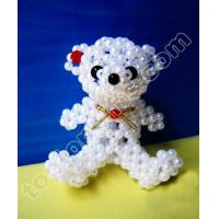 China mini plastic pearl beaded Teddy bear on sale