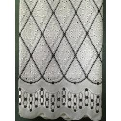 China Hand-cut/ Holes Swiss Cotton Lace Fabric With Cotton Embroidery/ Swiss Cotton Lace Fabric Factory for sale