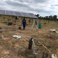 Outdoor 2.2kw 220v Three Phase Solar Pumping System For Irrigation In Zambia