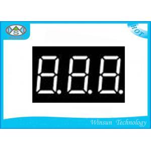 China 8 Segment Led Display 3 Digit , Blue / Green 0.39 Inch Digital Clock Led Display on sale