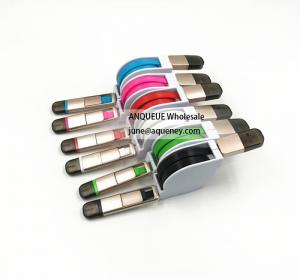 China Wholesale colorful micro usb cable to micro usb cable 2in1 flat micro usb cable for iphone/samsung/andriod on sale
