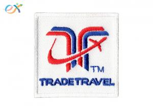 China White Bottom Polyester Fabric Iron On Letter Patches Size Customized on sale