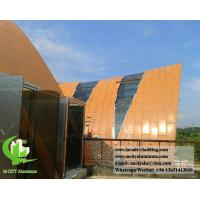 China Curved aluminum panel formed cladding panel for roof cladding on sale
