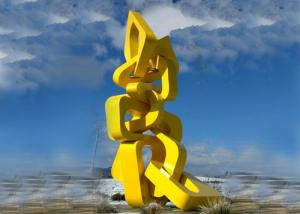 China Urban Large Abstract Metal Sculpture Modern Style For Landscape Harmony Towers Shape on sale
