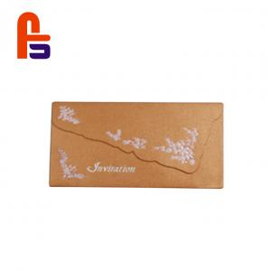 China Beautiful Design Kraft Paper Envelope Box , Custom Printed Kraft Boxes CMYK Color on sale
