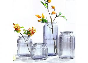 China Wedding Decorative Glass Vases / Glass Flower Vases Elegant Feature on sale
