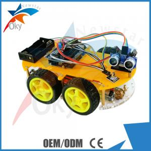 China Remote Control Car Parts Bluetooth / Infrared Controlled Diy Robot Car on sale