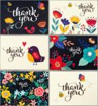 Beautiful Picture Thank U Greeting Card For Ceremony OEM / ODM Available