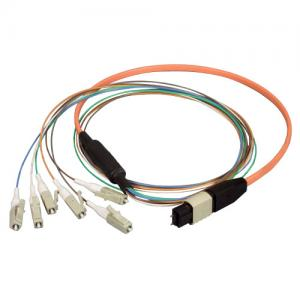 Quality 8 fibers optical MPO MTP Fanout Patch Cord for High Density Cable Management for sale