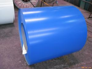 China Blue ASTM A653 PPGI Prepainted Galvanized Steel Coil For Roof 0.15 - 2.0mm Thickness on sale