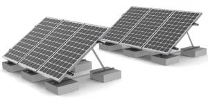 China Rooftop Solar Panel Roof Mounting Systems Concrete Ballast Commercial Residential on sale