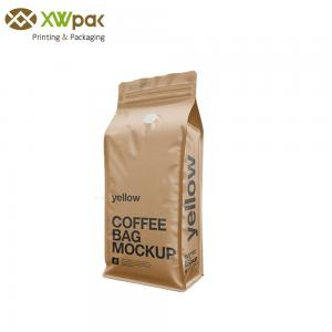 China Snack Logo Printing Stand Up Coffee Pouches Gravure Printing Surface Handling on sale