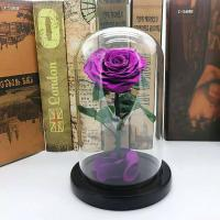 China Wholesale Forever Roses  preserved roses in glass dome Fresh flower rose Christmas Decorations on sale