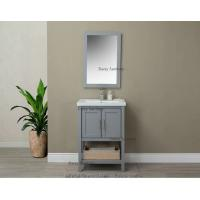 China Standing Wooden Bathroom Vanity Sets , Light Grey Unique Bathroom Vanities on sale