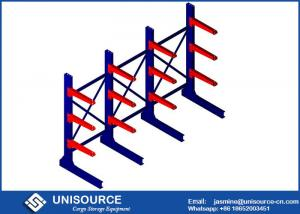 China Warehouse Cantilever Metal Racks , Unisource Industrial Cantilever Shelving Systems on sale