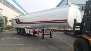 China 45000L tri axle carbon Heavy Duty Truck , diesel / oil / fuel semi tanker trailers on sale
