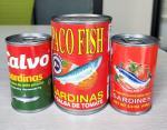 Canned Sardine Fish in Vegetable Oil, Tomato Sauce & Brine