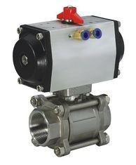 China Pneumatic Water Oil Gas Acid Stainless Steel Flanged Ball Valve SS -20℃ - 190℃ on sale