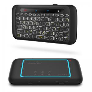 China H20 Multimedia Ergonomics Touch Pad Keyboard Dual Size Backlight 2.4Ghz keyboard For Android Windows on sale