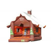 Christmas Inflatable Bouncy Castle , Outdoor Games Blow Up Jump House 5.2 * 4 * 4.5m