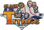 China Custom embroidery digitizing CLASH of the Titans Blending color baseball WEI9C01 wholesale