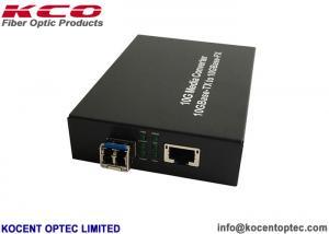 China SFP /  XFP 10G Optical Fiber Ethernet Media Converter LC Dual Fiber Single Mode / Multimode on sale
