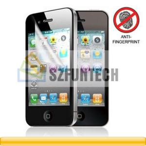 China Anti-Fingerprint Matte Finishing Screen Protector for iPhone 4GS 4G on sale