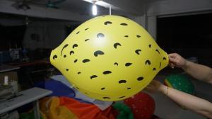 Quality Ballons formés par citron durable du jaune 90cm avec l'impression de Digital for sale