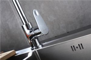 China Long Neck Commercial Kitchen Faucets , Hot Cold Water Kitchen Sink Faucets on sale