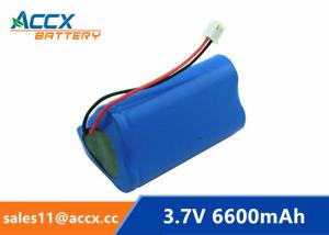 China 18650 3.7V 6600mAh rechargeable li-ion battery pack 1S3P for home appliancewi with jst connector and PCM on sale