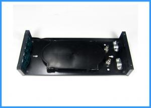China 12 Cores Black Fiber Optic Termination Box with FC APC Adapter ODF Assembly on sale