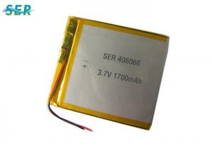 China Prismatic Pouch Lithium Ion Polymer Rechargeable Battery 3.7V 406066 For Solar Light on sale