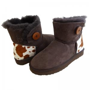 China Classical Women Sheepskin Winter Boots Double Face Fur Anti - Slip on sale