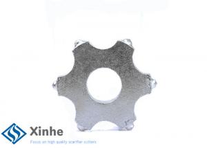 China Tungsten Carbide Scarifier Cutter With Teeth 6 Points Replacement Accessories on sale