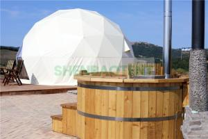 China 8mGlamping Dome Tent House Resort Tent Big Transparent Window With Flooring on sale