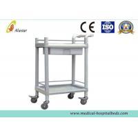 Plastic-Steel Medical Trolley Hospital Cart Abs Body Emergency Nursing Trolley (ALS-MT108)