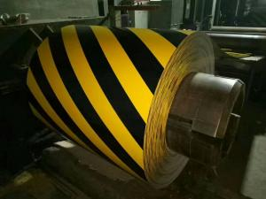 China Corrosion Resistant Color Coated Steel Coil Yellow And Black For Traffic Equipment on sale