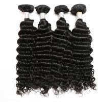 Virgin Peruvian Deep Wave Human Hair / Peruvian Hair Body Wave Bundles